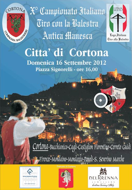 Manifesto Campionato Litab Balestra Manesca a Braccio - Cortona 2012